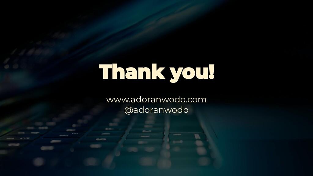 www.adoranwodo.com @adoranwodo