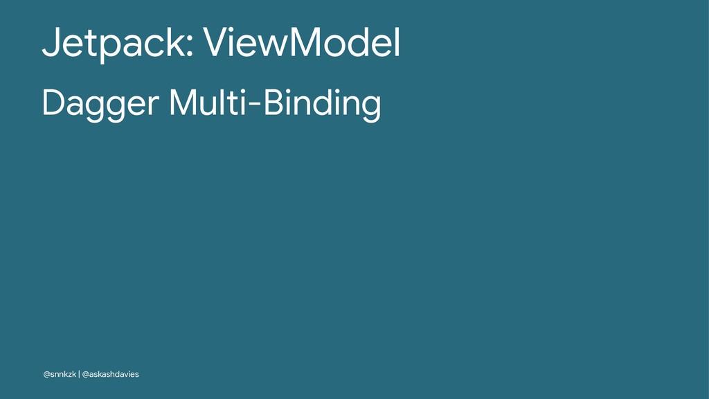 Jetpack: ViewModel Dagger Multi-Binding @snnkzk...