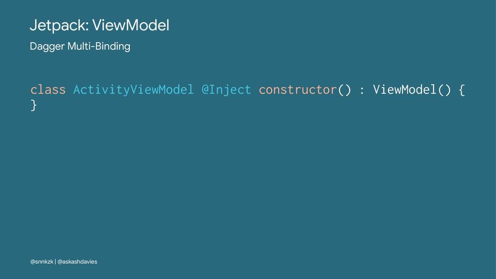 Jetpack: ViewModel Dagger Multi-Binding class A...