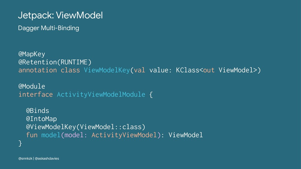 Jetpack: ViewModel Dagger Multi-Binding @MapKey...