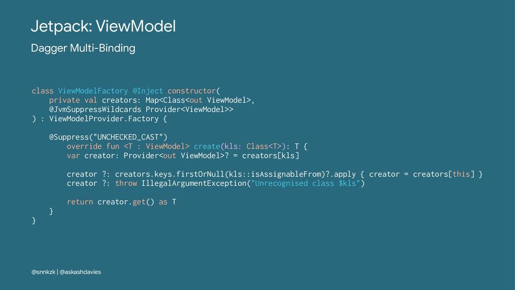 Jetpack: ViewModel Dagger Multi-Binding class V...