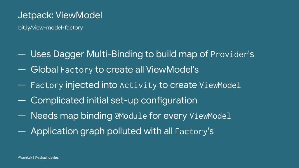 Jetpack: ViewModel bit.ly/view-model-factory — ...