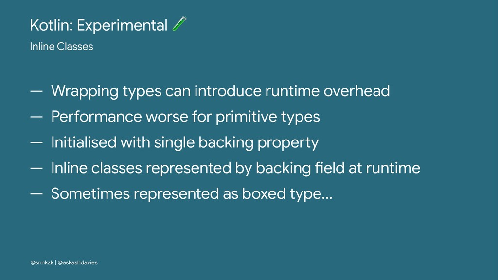 Kotlin: Experimental ! Inline Classes — Wrappin...
