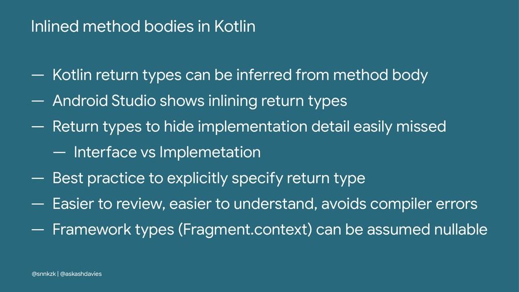 Inlined method bodies in Kotlin — Kotlin return...