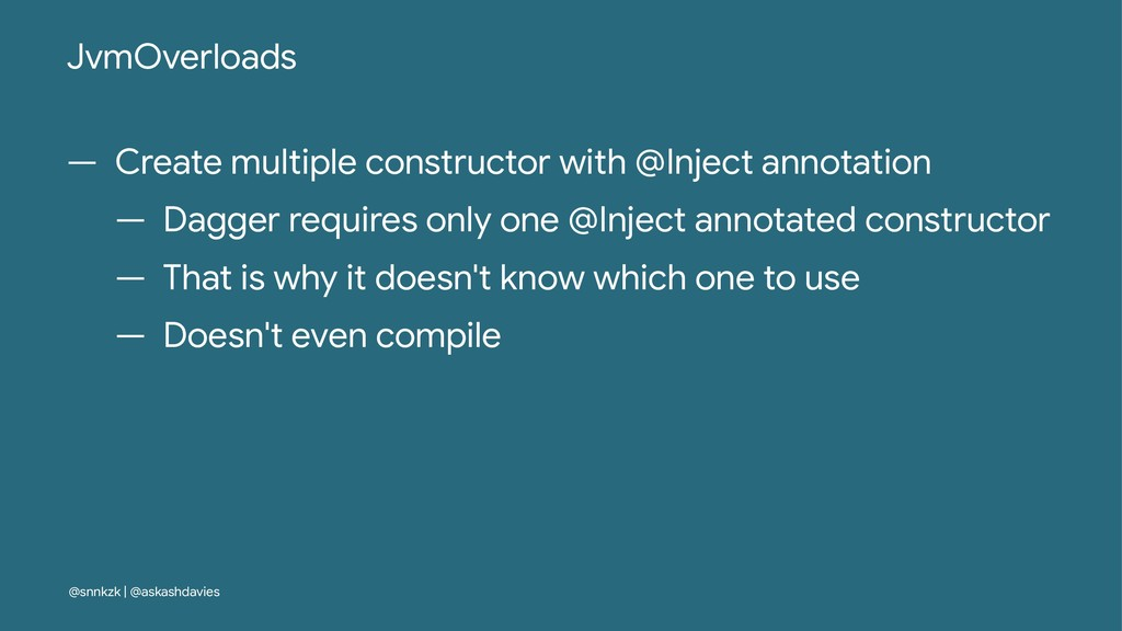 JvmOverloads — Create multiple constructor with...