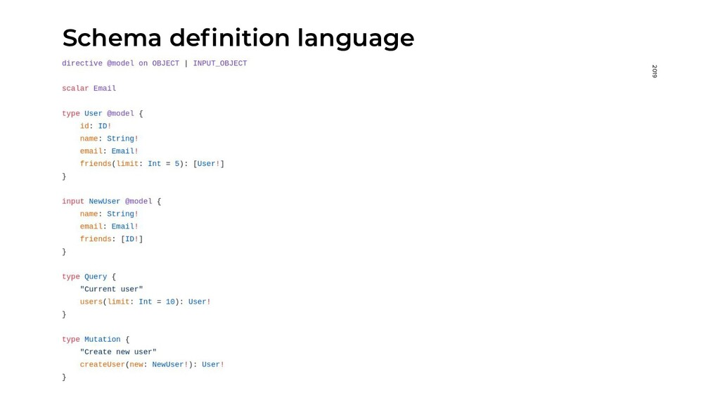 2019 Schema definition language
