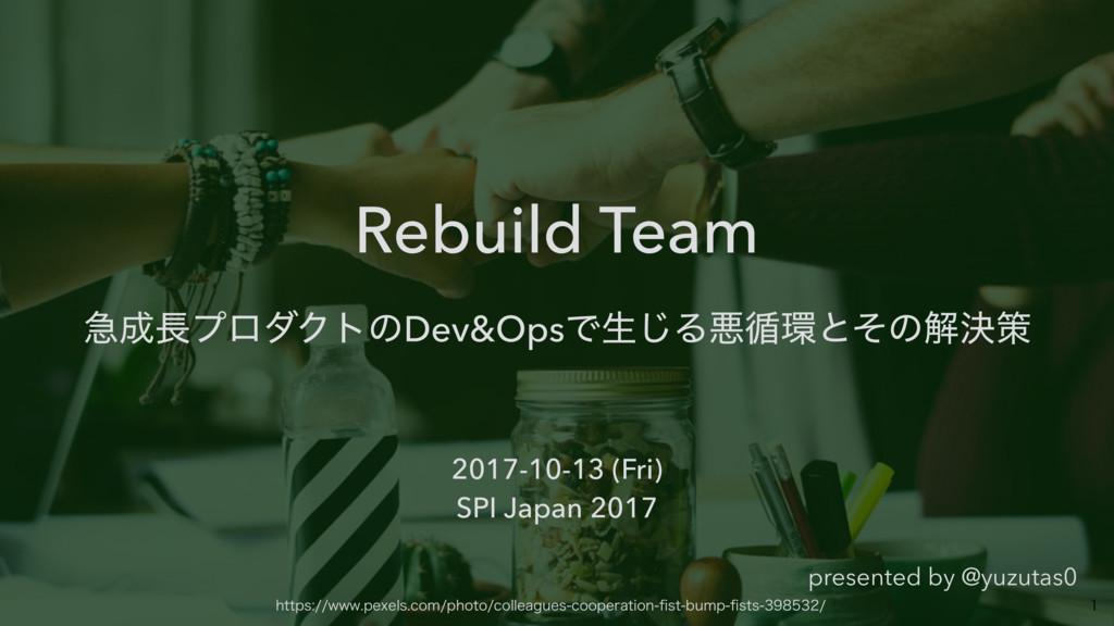 Rebuild Team ٸϓϩμΫτͷDev&OpsͰੜ͡Δѱ॥ͱͦͷղܾࡦ  2...