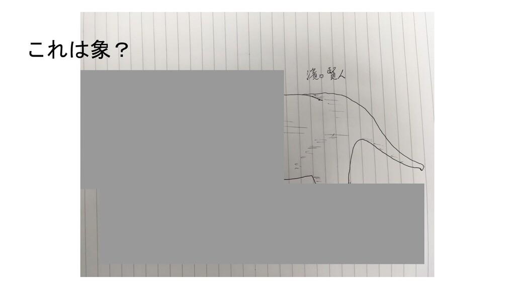 これは象?