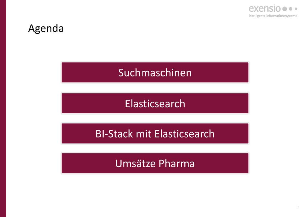 2 Agenda Elasticsearch BI-Stack mit Elasticsear...