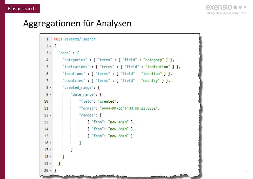11 Aggregationen für Analysen Elasticsearch
