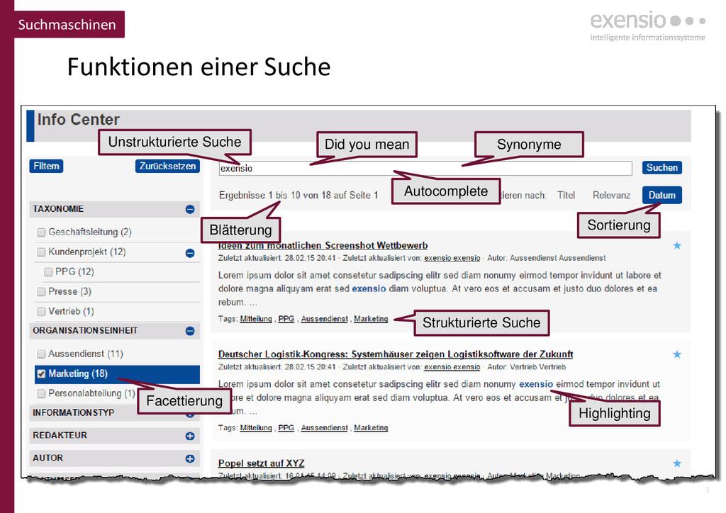 3 Funktionen einer Suche Suchmaschinen Blätteru...