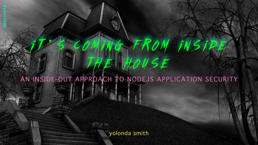 @ysmithND i t ' s coming from inside the house ...
