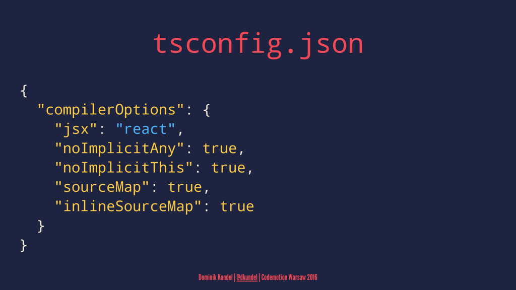 "tsconfig.json { ""compilerOptions"": { ""jsx"": ""re..."