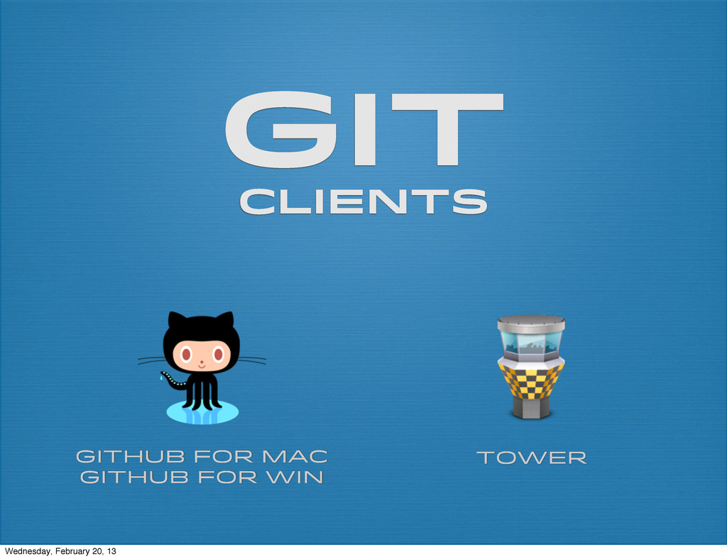 git clients Github for Mac Github for Win Tower...