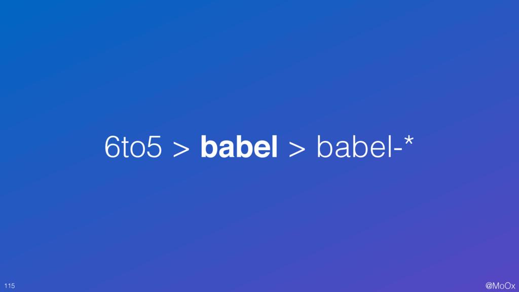 @MoOx 6to5 > babel > babel-* 115