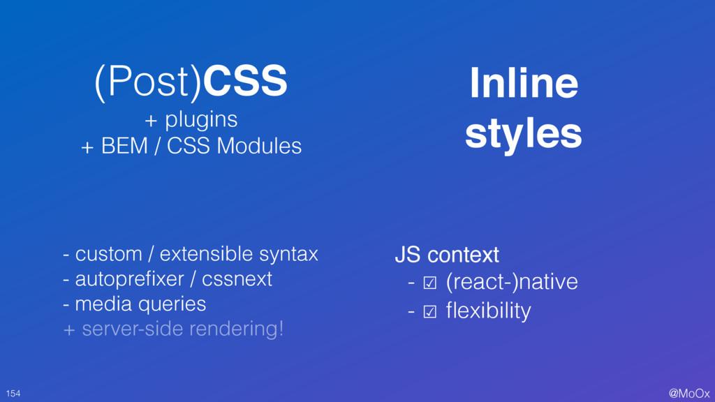@MoOx (Post)CSS + plugins + BEM / CSS Modules 1...
