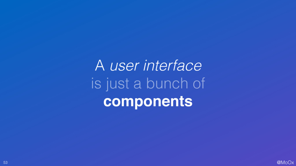 @MoOx A user interface is just a bunch of compo...
