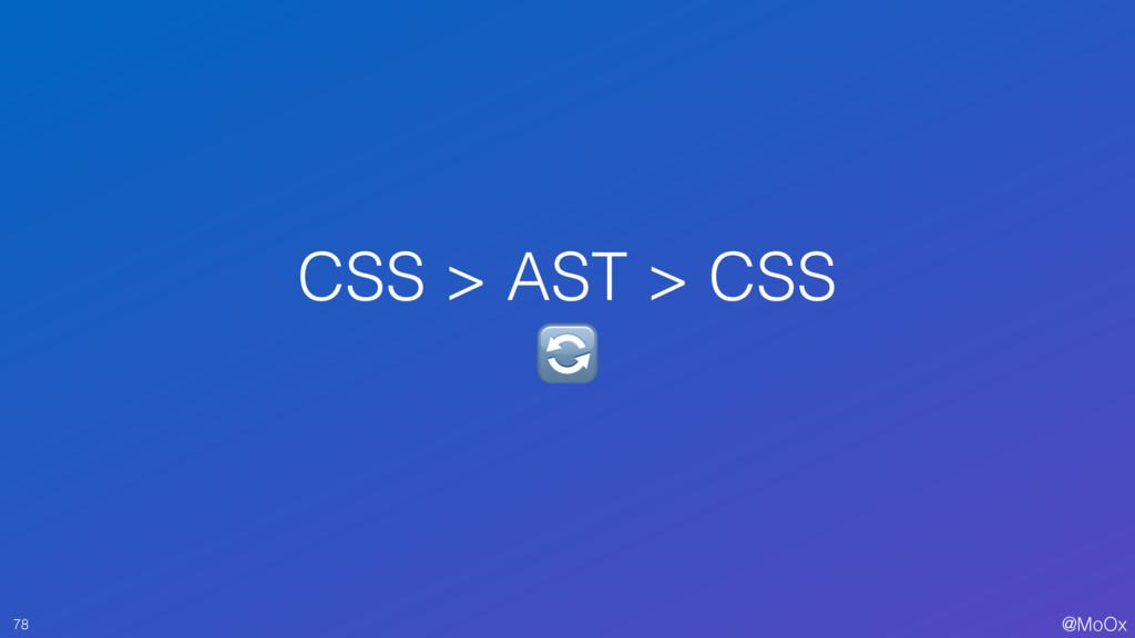 @MoOx CSS > AST > CSS  78