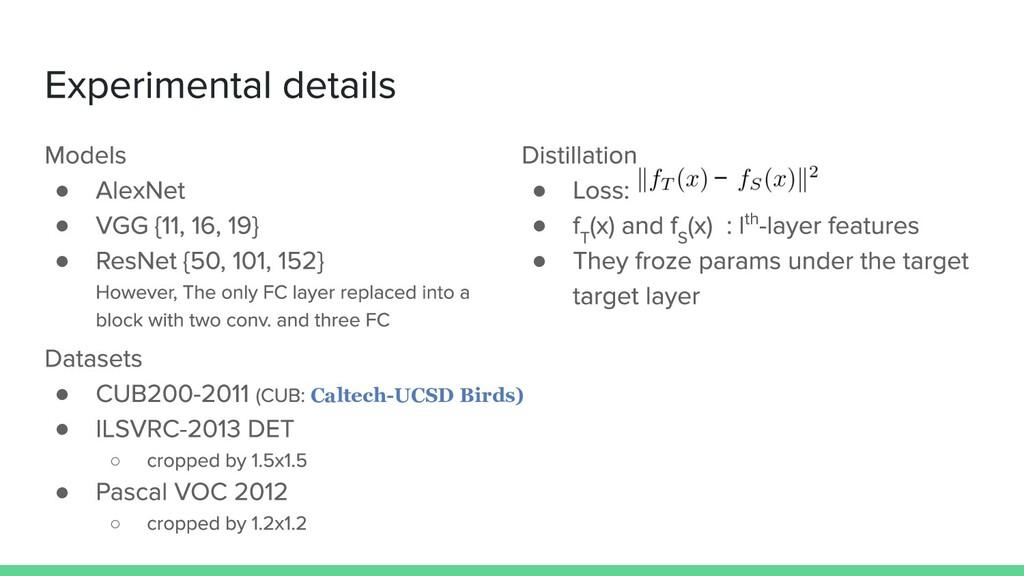 ● ● ● ● Caltech-UCSD Birds) ● ○ ● ○ ● ● ●