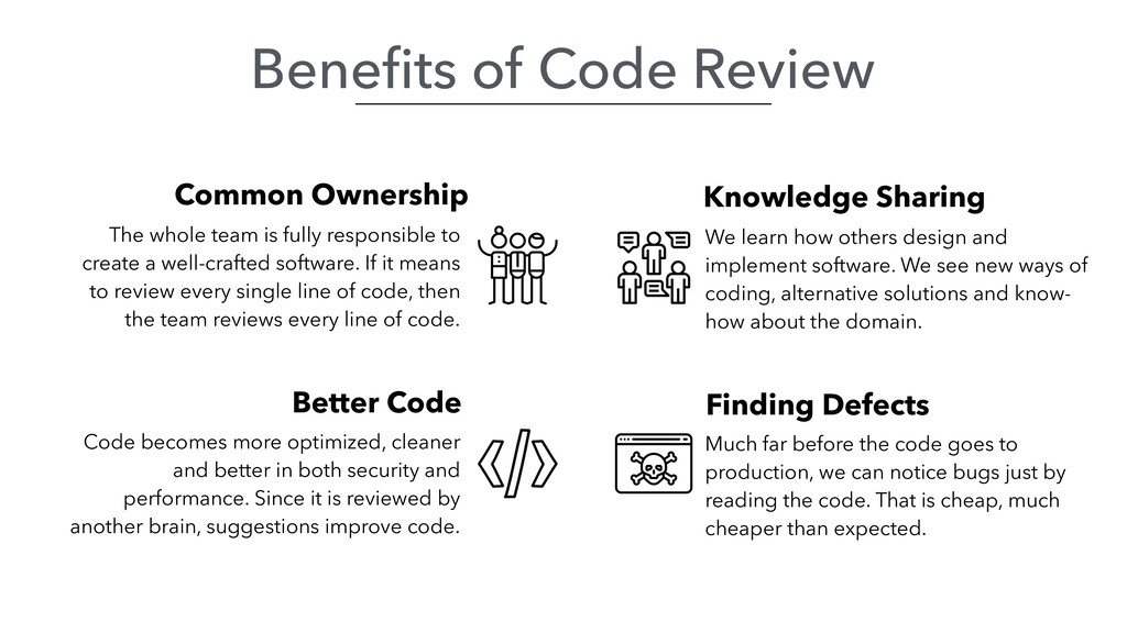 Benefits of Code Review Better Code Common Owner...