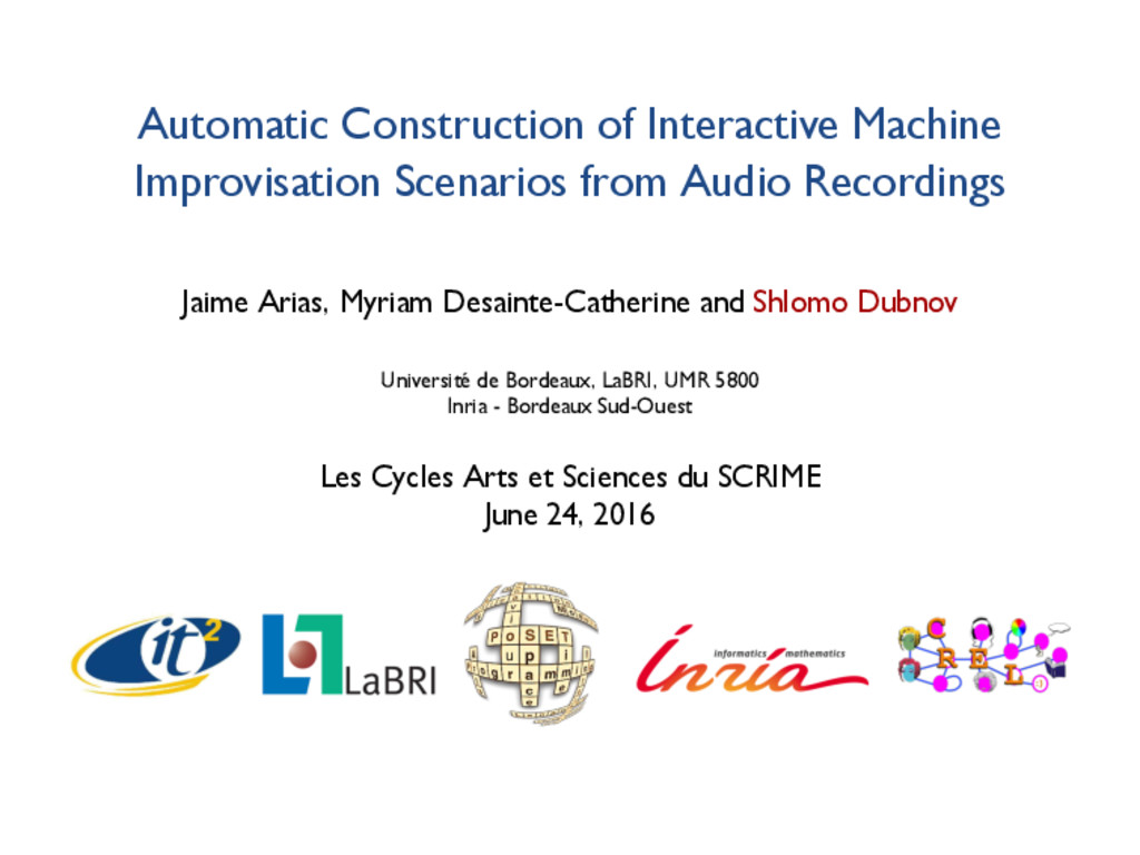 Automatic Construction of Interactive Machine I...