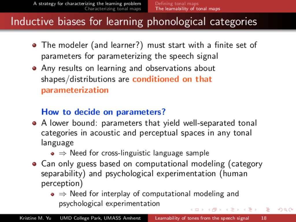 A strategy for characterizing the learning prob...