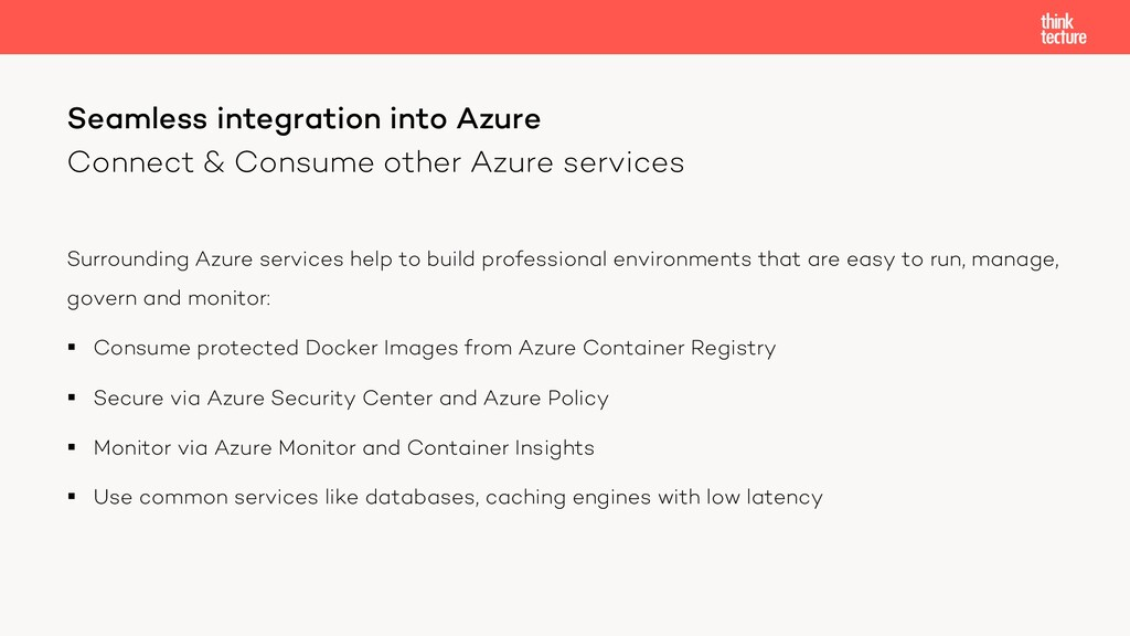 Connect & Consume other Azure services Surround...
