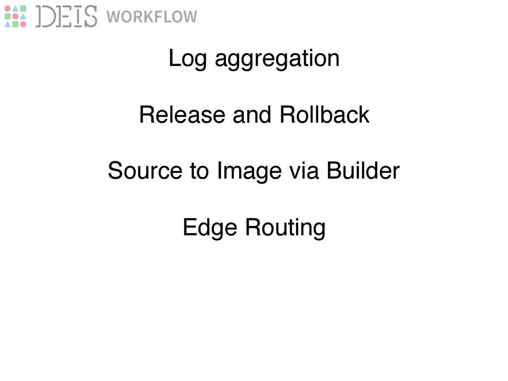 WORKFLOW Log aggregation Source to Image via Bu...