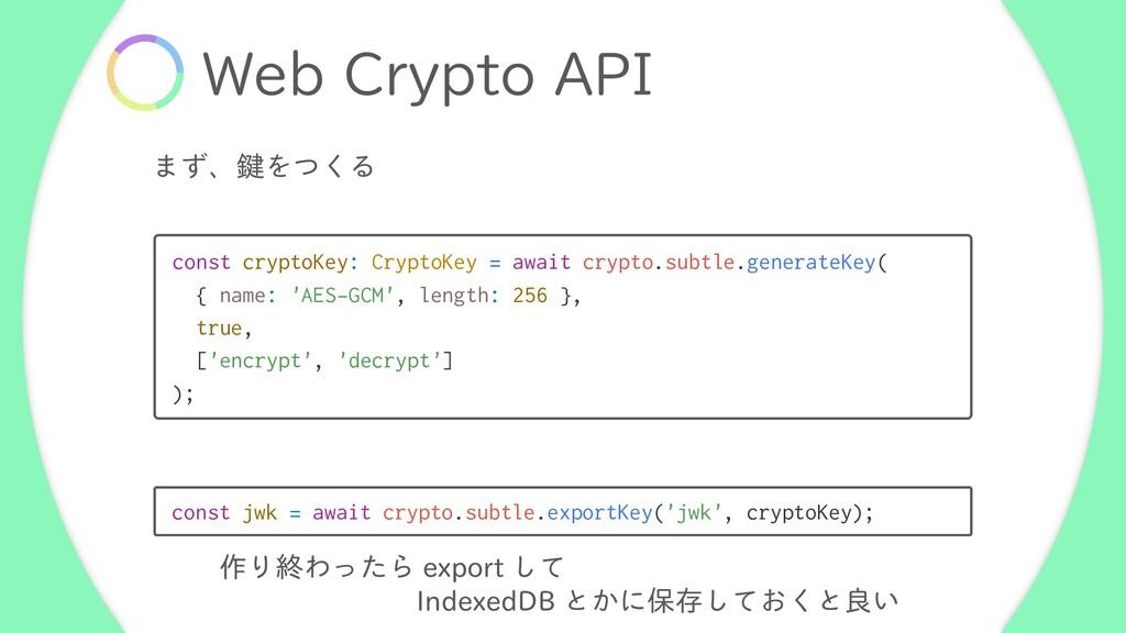 "8FC$SZQUP""1* ·ͣɺݤΛͭ͘Δ const cryptoKey: Crypto..."