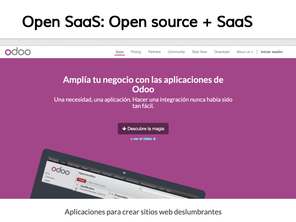 Open SaaS: Open source + SaaS