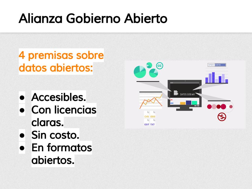 Alianza Gobierno Abierto 4 premisas sobre datos...