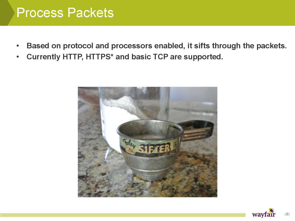 ‹#› Process Packets • Based on protocol and pro...