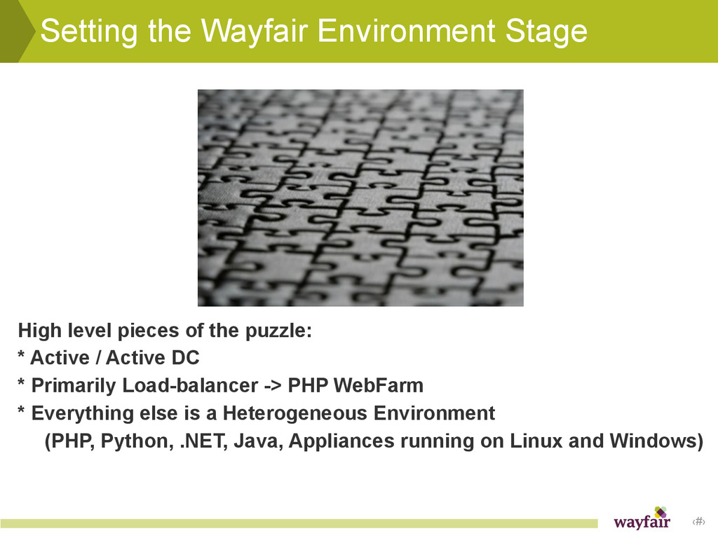 ‹#› Setting the Wayfair Environment Stage High ...