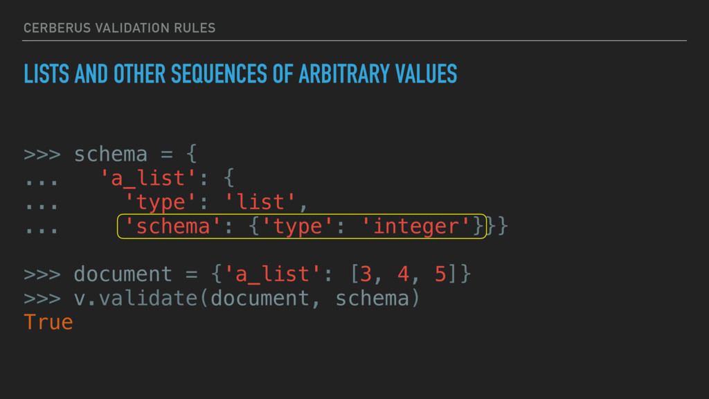 CERBERUS VALIDATION RULES LISTS AND OTHER SEQUE...