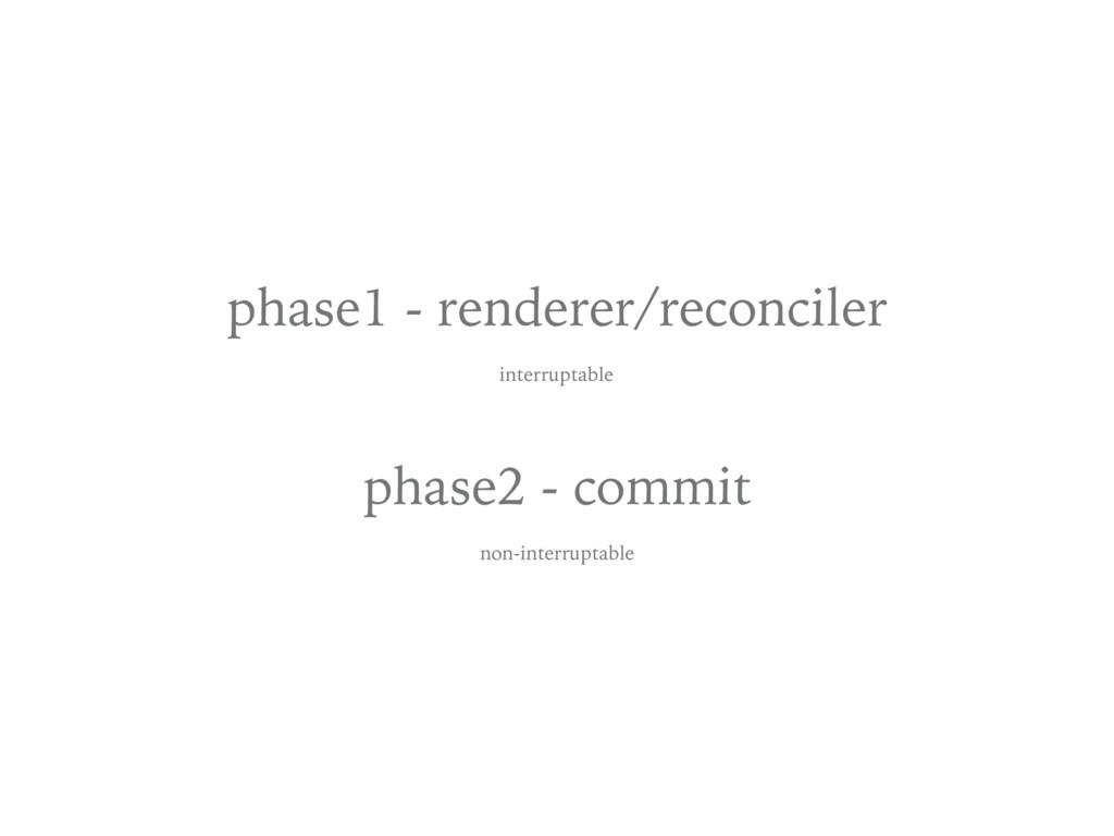 phase1 - renderer/reconciler interruptable phas...