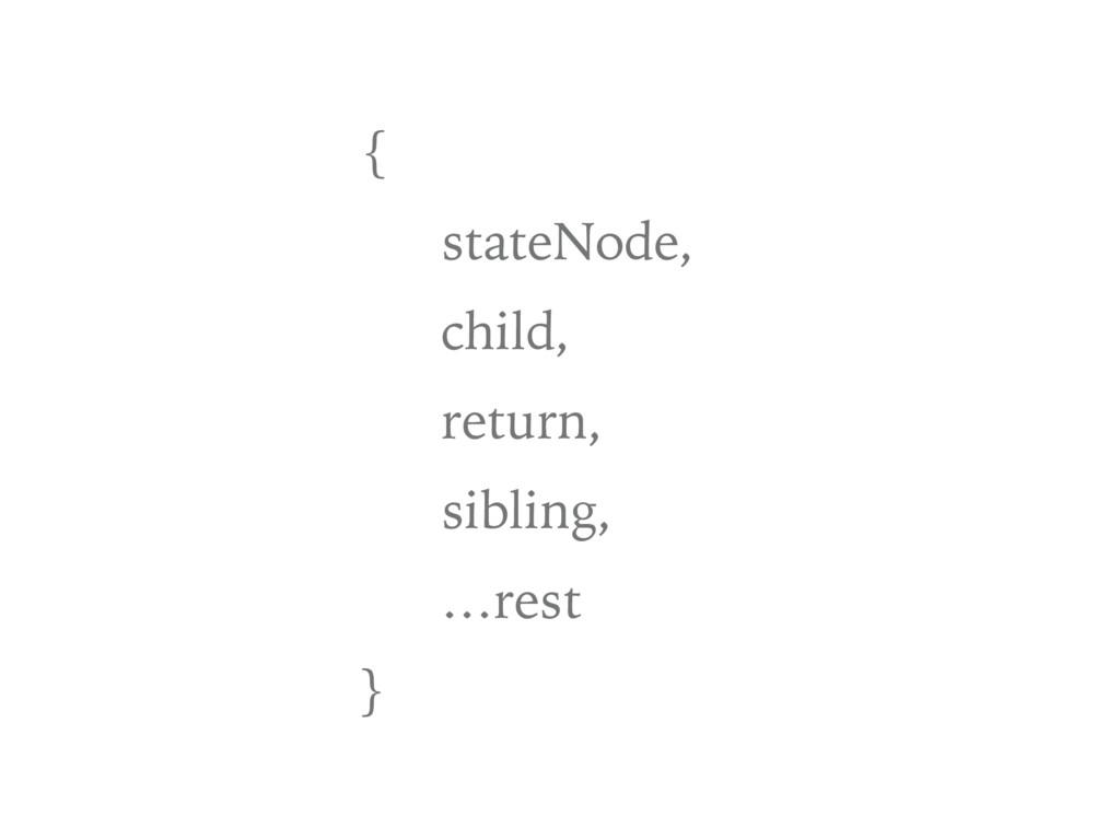 { stateNode, child, return, sibling, …rest }
