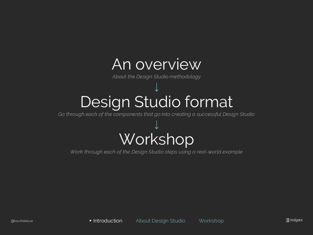 @touchdeluxe ▸ Introduction About Design Studio...