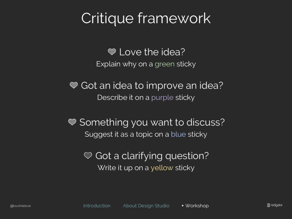 @touchdeluxe Critique framework Introduction Ab...