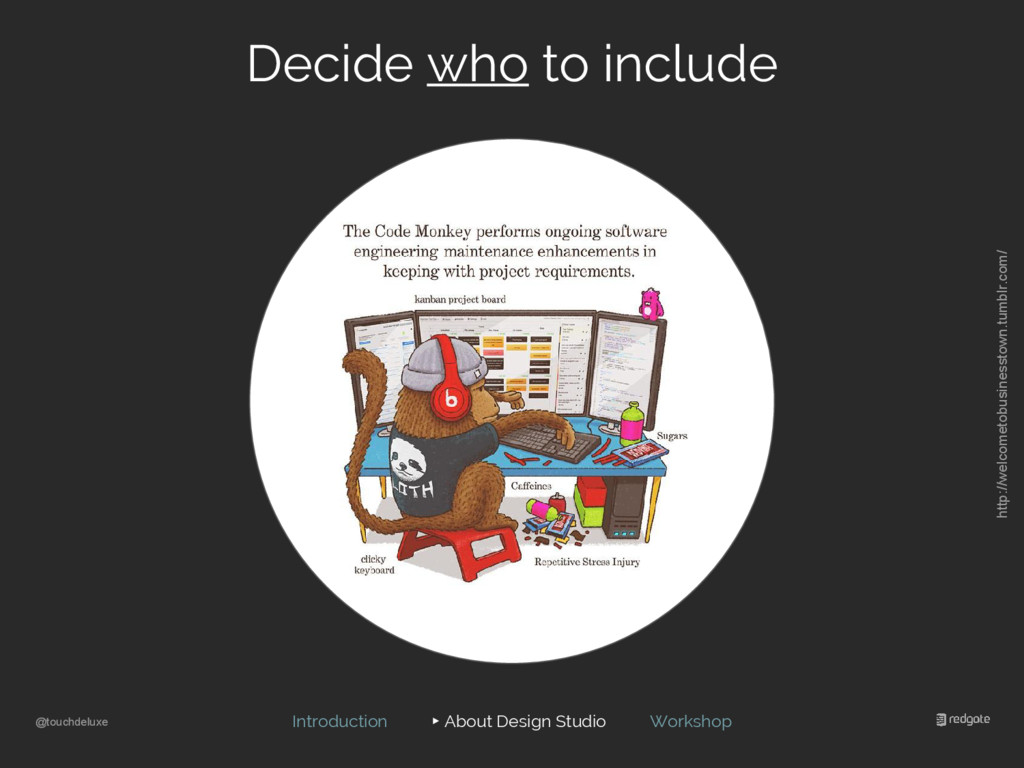 @touchdeluxe Decide who to include Introduction...