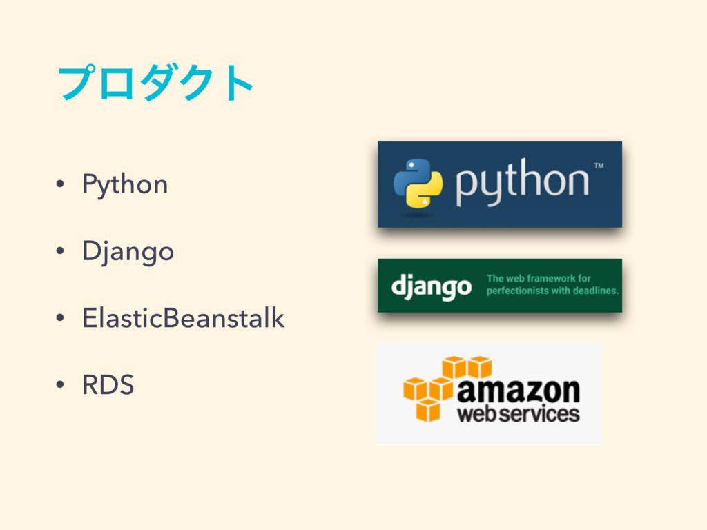 ϓϩμΫτ • Python • Django • ElasticBeanstalk • RDS