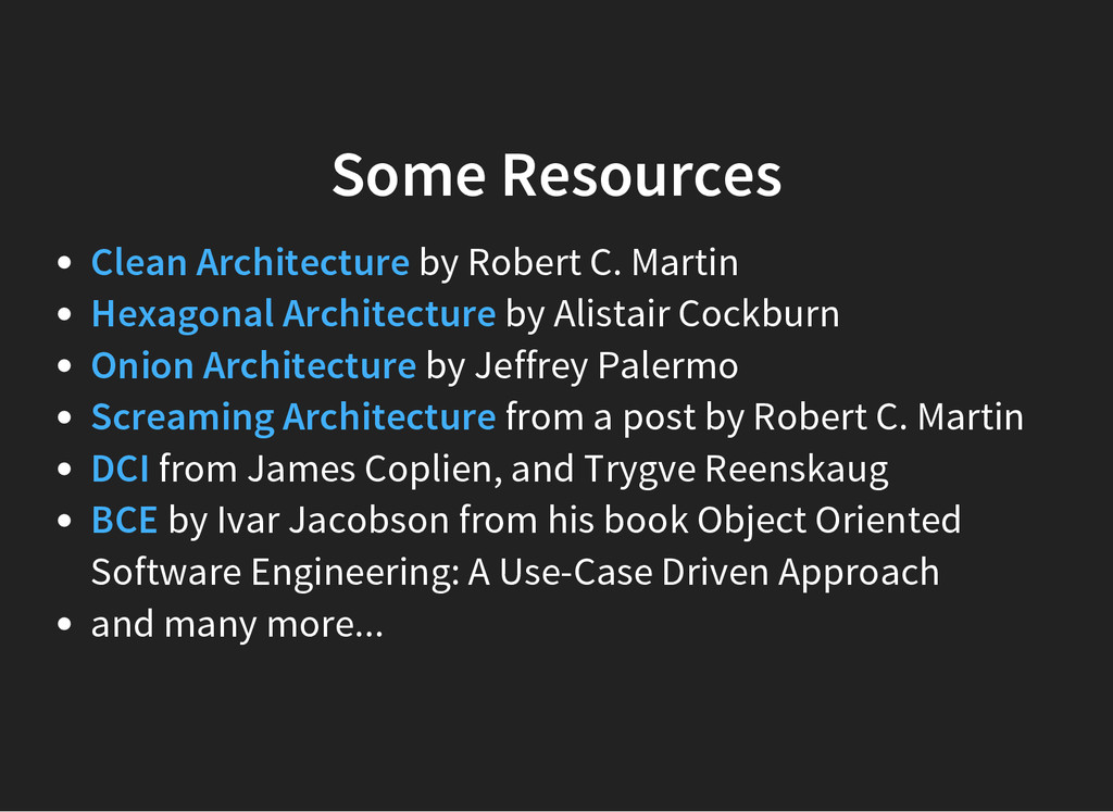 Some Resources by Robert C. Martin by Alistair ...
