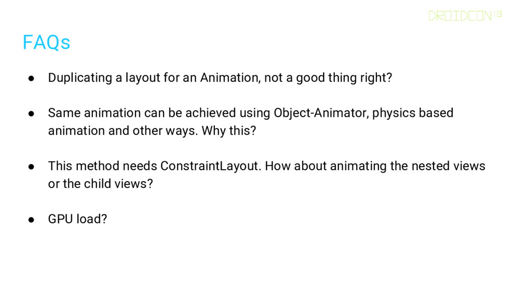 FAQs ● Duplicating a layout for an Animation, n...