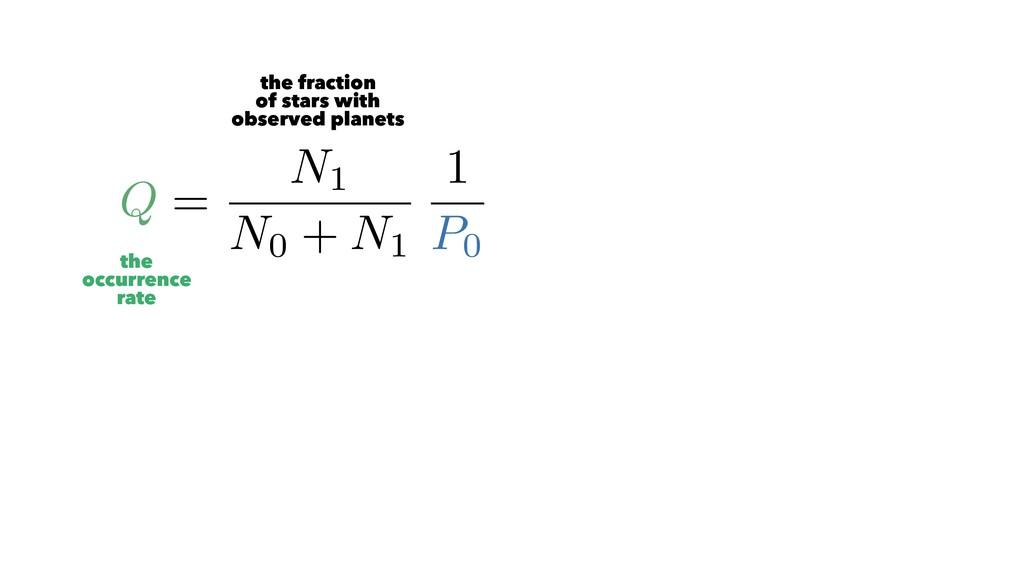 Q = N1 N0 + N1 1 P0 6= 1 N0 + N1 N1 X j=1 1 Pj ...