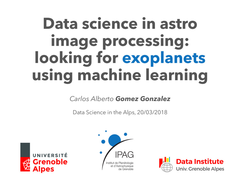 Data science in astro image processing: looking...