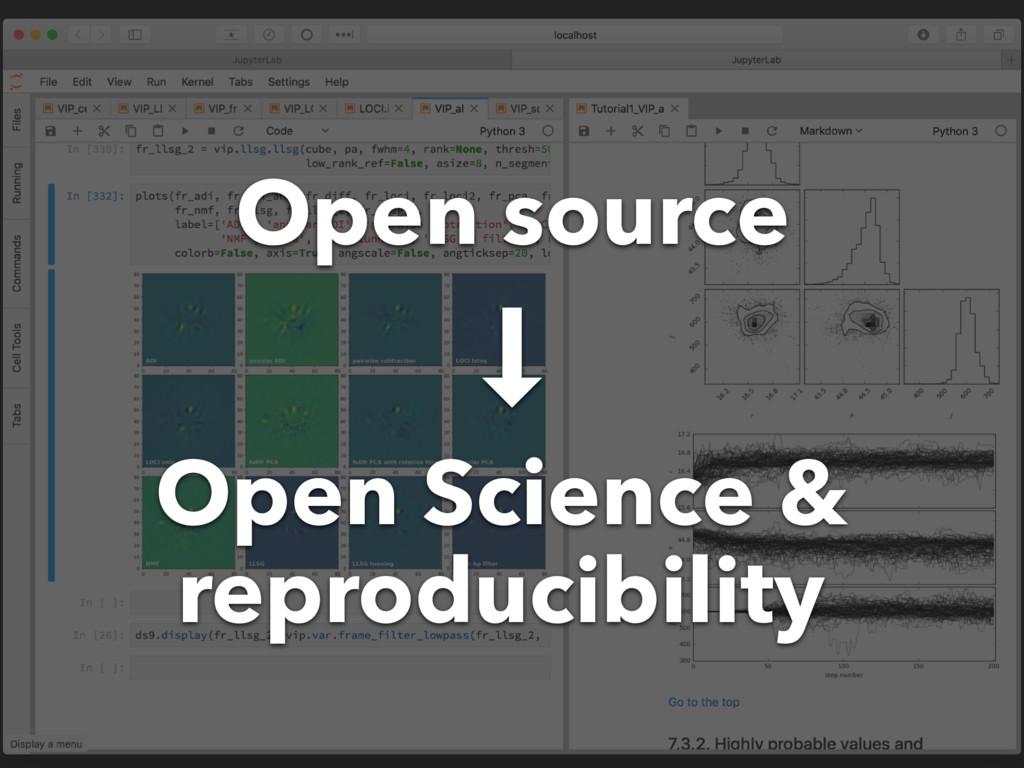 Open Science & reproducibility Open source