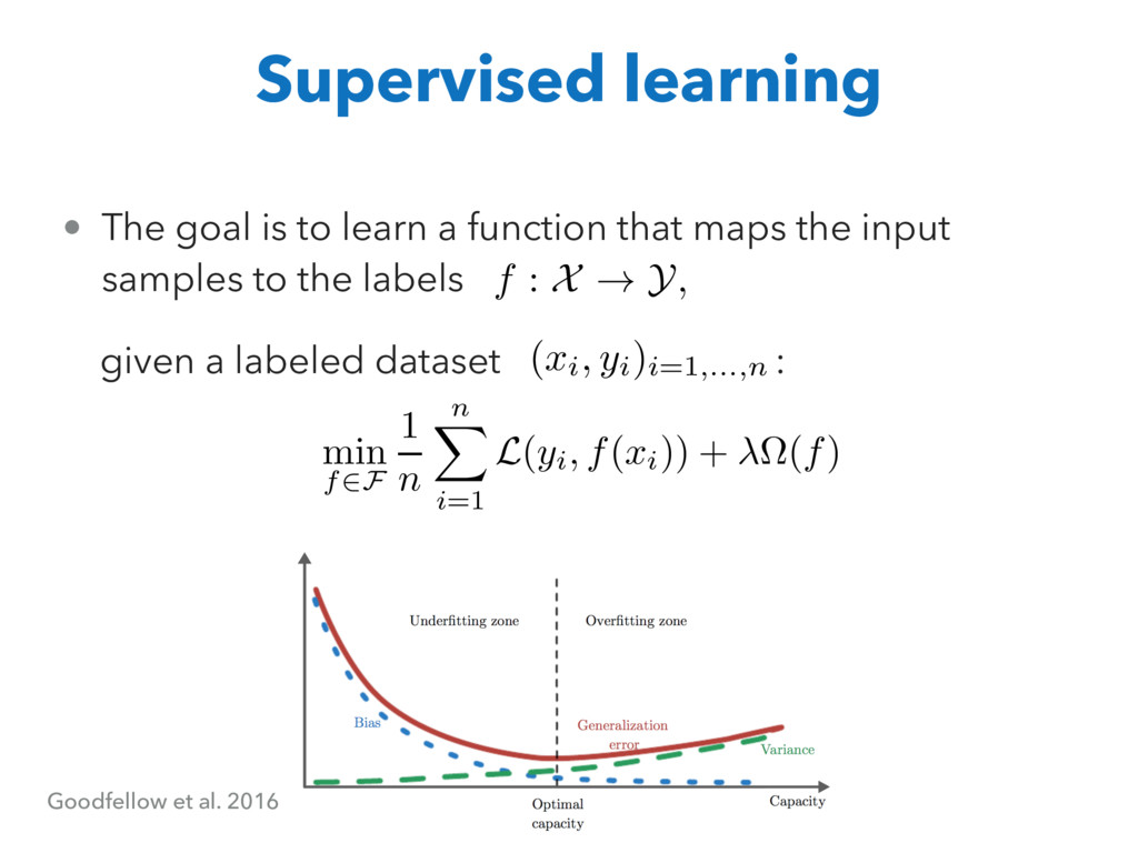 • The goal is to learn a function that maps the...