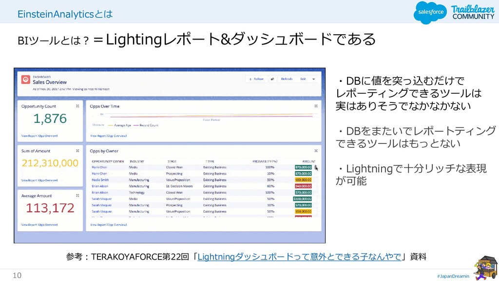 #JapanDreamin 10 EinsteinAnalyticsとは BIツールとは?=L...