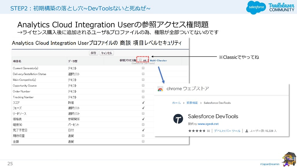 #JapanDreamin 25 STEP2:初期構築の落とし穴~DevToolsないと死ぬぜ...
