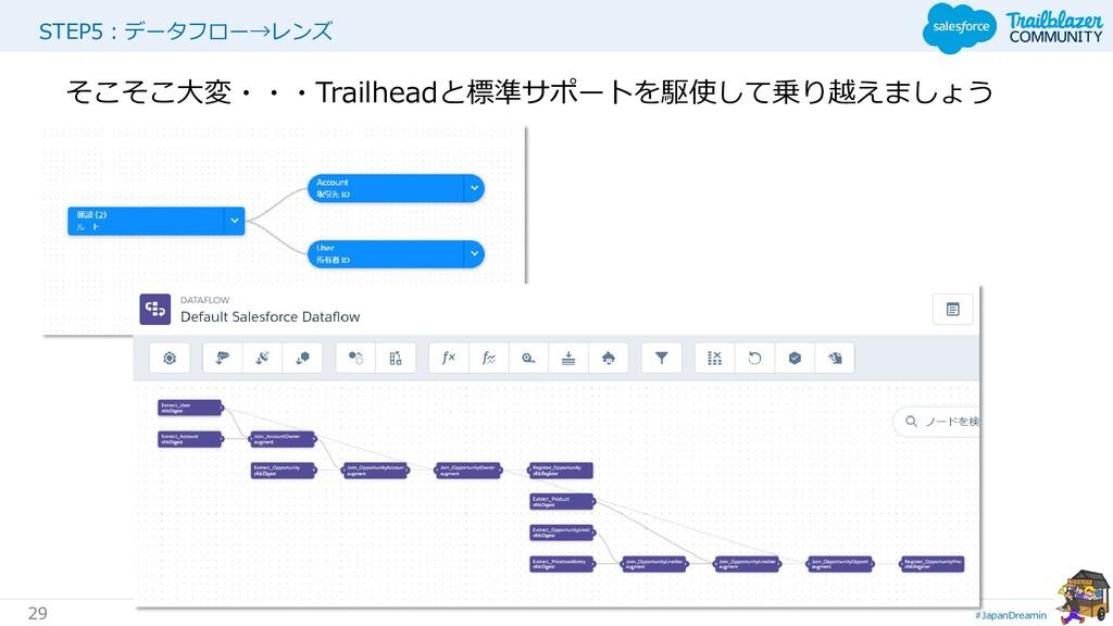 #JapanDreamin 29 STEP5:データフロー→レンズ そこそこ大変・・・Trai...