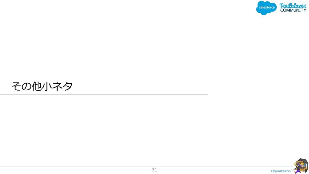 #JapanDreamin 31 その他小ネタ
